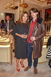 Mimi Nishikawa Bailey and Sascha Bailey at the reopening of the Cartier Boutique, New Bond Street, London, England. 31 January 2019. <br /> <br /> ***For fees please contact us prior to publication***