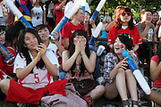 World Cup 2010 watched  on London TV<br /> S.Korea v Nigeria at Fans Park, New Malden