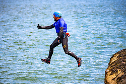 18MAY21 Stevie Boyle. Matt out with Mollie Hughes and Stevie Boyle, Coasteering with Ocean Vertical at Dunbar.