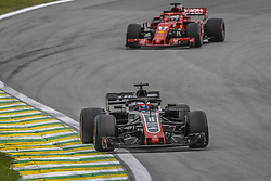 November 9, 2018 - Sao Paulo, Brazil - 08 GROSJEAN Romain (fra), Haas F1 Team VF-18 Ferrari, action during the 2018 Formula One World Championship, Brazil Grand Prix from November 08 to 11 in Sao Paulo, Brazil -  FIA Formula One World Championship 2018, Grand Prix of Brazil World Championship;2018;Grand Prix;Brazil  (Credit Image: © Hoch Zwei via ZUMA Wire)