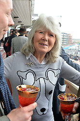 NEWBURY, ENGLAND 26TH NOVEMBER 2016: Jilly Cooper at Hennessy Gold Cup meeting Newbury racecourse Newbury England. 26th November 2016. Photo by Dominic O'Neill