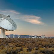 Cal Tech Radio Telescopes At Dusk - North Owens Valley