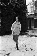 27/12/1962<br /> 12/27/1962<br /> 27 December 1962<br /> Orla Ní Shíochain, Dublin Model working in Paris home for Christmas at Rathfarnham Park, Dublin.