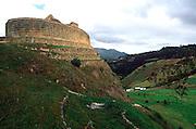 ECUADOR, PREHISPANIC SITE Ingapirca, Inca site, Sun Temple