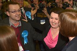 SCOTTISH PARLIAMENTARY ELECTION 2016 – Ruth Davison Scottish Conservative and Unionist Party arrives at theRoyal Highland Centre, Edinburgh with her partner Jen Wilson <br />(c) Brian Anderson | Edinburgh Elite media