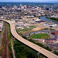 Aerial view of Wilmington Delaware view North, home of President Joe Biden