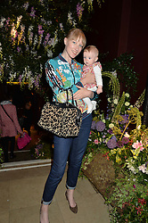 JADE PARFITT and her daughter TABITHA at a preview of Mayfair's first Flower Show at Sketch, 9 Conduit Street, London on 18th May 2016.