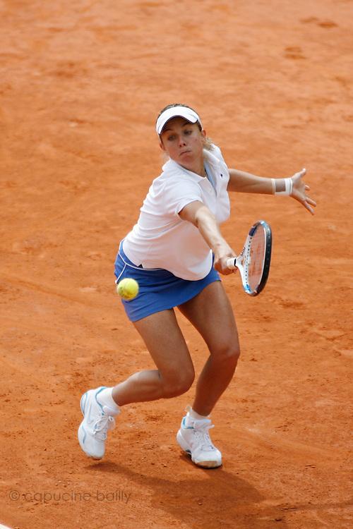 Roland Garros. Paris, France. May 29th 2007..Emmanuelle Gagliardi against Nicole Vaidisova.