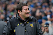 Burton Albion manager Nigel Clough during the EFL Sky Bet Championship match between Brighton and Hove Albion and Burton Albion at the American Express Community Stadium, Brighton and Hove, England on 11 February 2017. Photo by Richard Holmes.