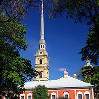 Europe, Russia, St. Petersburg. The Peter and Paul Fortress.