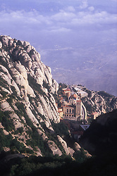 Mountains and monastery at Montserrat; Catalunya,