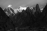 Paiju Peak, Choricho and Uli Biaho, Pakistan - Monochrome