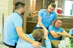 Nejc Skubic and Matic Crnic at Slovenia team gathering before friendly football match against National teams of Sweden and Turkey, on May 23, 2016 in Hotel Kokra, Brdo pri Kranju, Slovenia. Photo by Vid Ponikvar / Sportida
