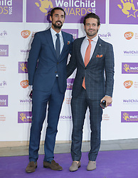 Spencer Matthews (right) and Hugo Taylor from Made In Chelsea attending the annual WellChild Awards at The Dorchester Hotel, London.