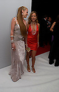 Cat Deeley and Jade Jagger. The Moet & Chandon Fashion Tribute 2005 to Matthew Williamson,  Old Billingsgate market, London. 16th February 2005. ONE TIME USE ONLY - DO NOT ARCHIVE  © Copyright Photograph by Dafydd Jones 66 Stockwell Park Rd. London SW9 0DA Tel 020 7733 0108 www.dafjones.com