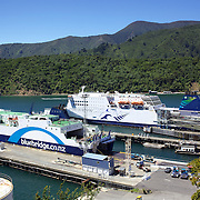 The Wellington to Picton ferry's at Picton Harbour. Picton, New Zealand.  28th January 2011.Photo Tim Clayton.