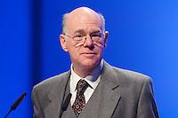 13 JAN 2009, KOELN/GERMANY: <br /> Norbert Lammert, CDU, Bundestagspraesident, haelt eine Rede, 50. Gewerkschaftspolitische Arbeitstagung des deutschen Beamtenbundes, dbb, Messe Koeln<br /> IMAGE: 20090112-01-041