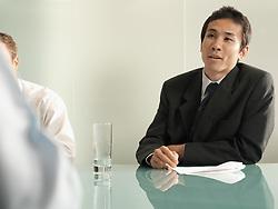 Dec. 05, 2012 - Businessmen in a meeting (Credit Image: © Image Source/ZUMAPRESS.com)