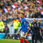 PARIS, FRANCE - March 25:  Kylian Mbappé #10 of France celebrates after scoring during the France V Iceland, 2020 European Championship Qualifying, Group Stage at  Stade de France on March 25th 2019 in Paris, France (Photo by Tim Clayton/Corbis via Getty Images)