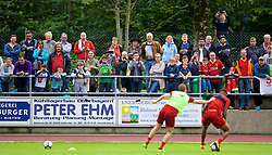 ROTTACH-EGERN, GERMANY - Friday, July 28, 2017: Locals watch as a Liverpool training session at FC Rottach-Egern on day three of the preseason training camp in Germany. (Pic by David Rawcliffe/Propaganda)