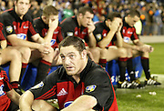 24 May 2003, Eden Park Auckland, Rugby Union, Xtra Super 12 Final, Auckland Blues vs Canterbury Crusaders.<br />Dejected Crusader's Mark Hammett after the final on Saturday night.<br />Pic: Marty Melville/Photosport