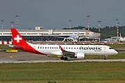 HB-JVU Helvetic Airways Embraer ERJ-190LR (ERJ-190-100 LR) at Malpensa (MXP / LIMC), Milan, Italy