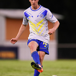 BRISBANE, AUSTRALIA - JANUARY 8: Trent Clulow of Strikers passes the ball during the Kappa Silver Boot Group A match between Brisbane Strikers and Eastern Suburbs on January 8, 2017 in Brisbane, Australia. (Photo by Patrick Kearney)