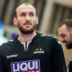 Marcel Schiller (FRISCH AUF! Goeppingen #24) ; LIQUI MOLY HBL 20/21  1. Handball-Bundesliga: TVB Stuttgart - FRISCH AUF! Goeppingen am 24.04.2021 in Stuttgart (SCHARRena), Baden-Wuerttemberg, Deutschland<br /> <br /> Foto © PIX-Sportfotos *** Foto ist honorarpflichtig! *** Auf Anfrage in hoeherer Qualitaet/Aufloesung. Belegexemplar erbeten. Veroeffentlichung ausschliesslich fuer journalistisch-publizistische Zwecke. For editorial use only.