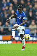 Idrissa Gueye of Everton in action. Premier league match, Everton v Crystal Palace at Goodison Park in Liverpool, Merseyside on Saturday 10th February 2018. pic by Chris Stading, Andrew Orchard sports photography.