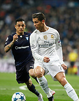 Real Madrid´s Cristiano Ronaldo and Malmo´s Yotun during 2015/16 Champions League soccer match between Real Madrid and Malmo at Santiago Bernabeu stadium in Madrid, Spain. December 08, 2014. (ALTERPHOTOS/Victor Blanco)