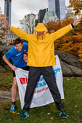 03-11-2018 USA: NYC Marathon We Run 2 Change Diabetes day 2, New York<br /> day before the marathon the usual photo shoot in Central Park / Bas, Kim, Hans