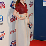 Jess Glynne arrives at Capital's Jingle Bell Ball with Coca-Cola at London's O2 Arena on 9th December 2018, London, UK.