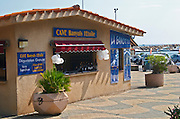 Wine shop. on the beach, Cave Etoile cooperative. Banyuls sur Mer, Roussillon, France