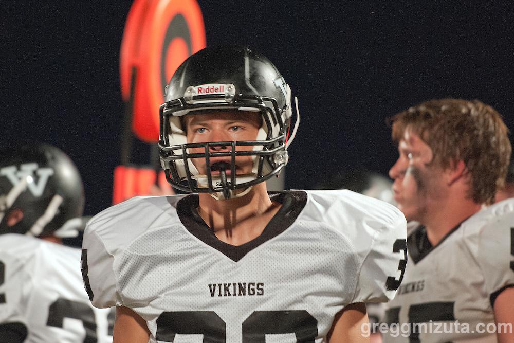 Vale sophomore Chikote Buckway. Vale - Homedale football game, September 11, 2015 at Homedale High School, Homedale, Idaho. Homedale won 40-7.