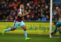 CELE - Burnley's Andre Gray celebrates scoring his sides second goal <br /> <br /> Photographer Ashley Crowden/CameraSport<br /> <br /> The Premier League - Swansea City v Burnley - Saturday 4th March 2017 - Liberty Stadium - Swansea<br /> <br /> World Copyright © 2017 CameraSport. All rights reserved. 43 Linden Ave. Countesthorpe. Leicester. England. LE8 5PG - Tel: +44 (0) 116 277 4147 - admin@camerasport.com - www.camerasport.com