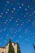 Coloured flags, Festa Major in Sant Cugat del Valles