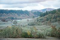 Farmland near the North Umpqua River, Glide, Oregon.