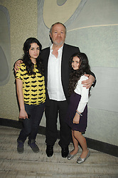 Left to right, VINCE POWER and his daughters NELL and EVIE at the launch party for 'The End of Summer Ball' in Berkeley Square held at Nobu Berkeley, 15 Berkeley Street, London on 7th April 2008.<br /><br />NON EXCLUSIVE - WORLD RIGHTS