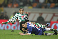 """LISBOA 21 MARCH 2005: # and # in the 26 leg of the Super Liga, season 2004/2005, match  Sporting CP (2) vs FC Porto (0), held in """"Alvalade XXI"""" stadium,  21/03/2005  22:16:30<br /> (PHOTO BY: NUNO ALEGRIA/AFCD)<br /> <br /> PORTUGAL OUT, PARTNER COUNTRY ONLY, ARCHIVE OUT, EDITORIAL USE ONLY, CREDIT LINE IS MANDATORY AFCD-PHOTO AGENCY 2004 © ALL RIGHTS RESERVED"""