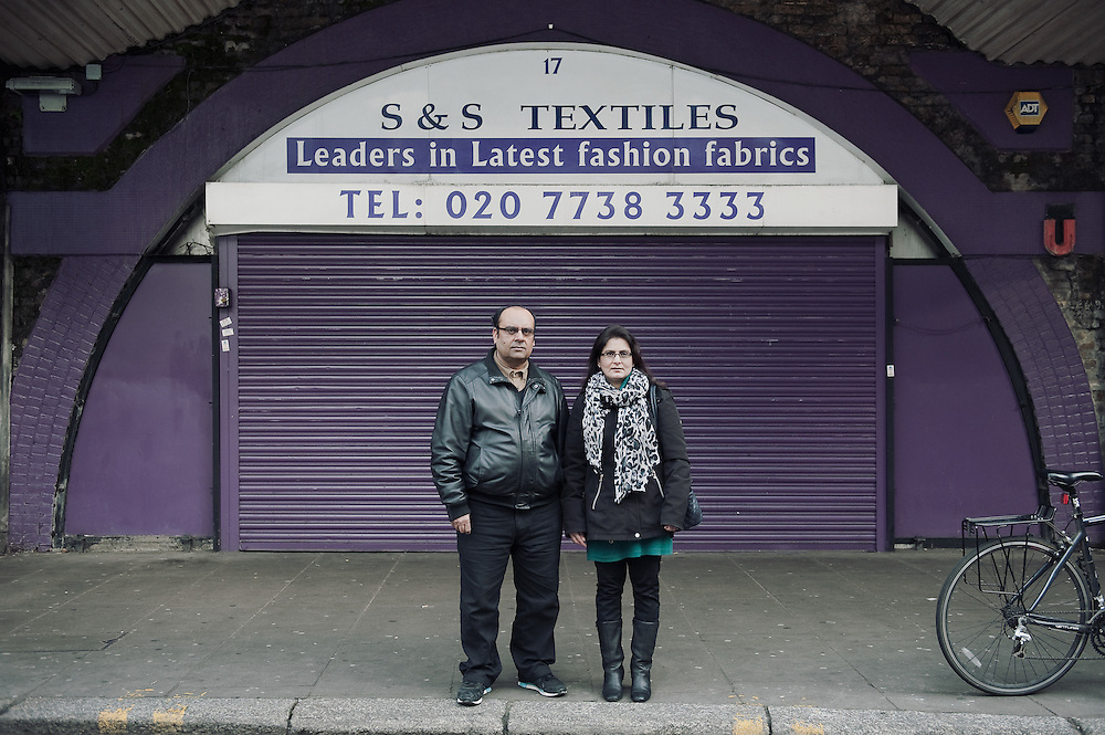 S&S Textiles. <br /> 17 Atlantic Road. <br /> <br /> 10 years ago the Shafiq family took over the textiles shop that has been there for more than 35 years.