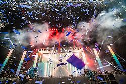 Calvin Harris plays the main stage, BBC Radio 1's Big Weekend Glasgow. Saturday at Glasgow Green, BBC Radio 1's Big Weekend Glasgow 2014.