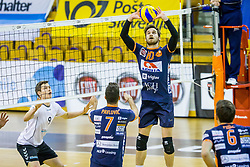 Jan Brulec of ACH Volley during Volleyball match between AHC Volley and Calcit Volley in Round #4 of Slovenian first league, on December 28, 2017 in Hala Tivoli, Ljubljana, Slovenia. Photo by Ziga Zupan / Sportida