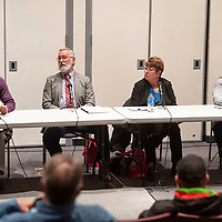 City Councilor candidates answer questions Wednesday, Feb. 19 at a candidate forum for the 2020 Municipal Officer Election at the University of New Mexico-Gallup Calvin Hall Auditorium co-hosted by the Gallup Independent and KGLP.