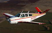 Beechcraft V35G Bonanza in flight over central Oklahoma.