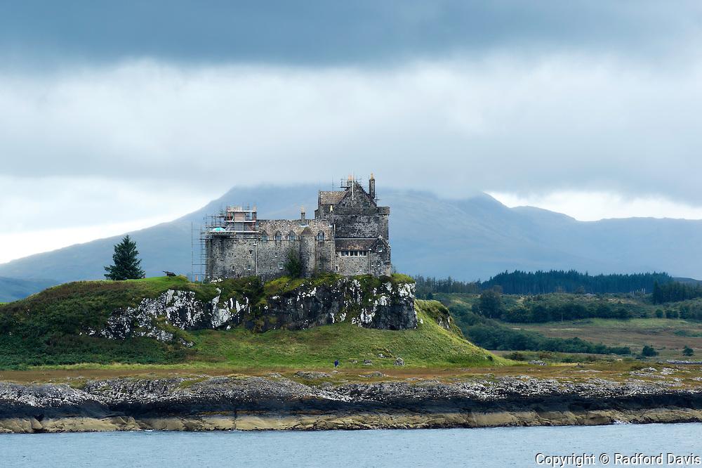 Duarte castle on the Isle of Mull, Scotland, UK