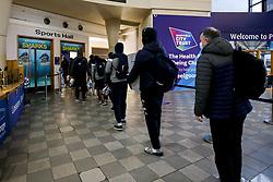 Bristol Flyers arrive at Sheffield Sharks - Photo mandatory by-line: Robbie Stephenson/JMP - 13/12/2020 - BASKETBALL - Ponds Forge Sports Centre - Sheffield, England - Sheffield Sharks v Bristol Flyers - British Basketball League Championship