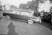 National Farmer's Association attack the car of Charlie Haughey, Minister for Agriculture. N.F.A. members surround and stop Mr. Haughey's car as he enters the Intercontinental Hotel to open the 5th Annual Congress of the British Equine Veterinary Association.<br />