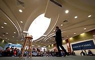 Democratic 2020 U.S. presidential candidate and entrepreneur Andrew Yang speaks at a town hall meeting  in Sioux City, Iowa, January 27, 2020.     REUTERS/Rick Wilking