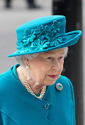 Queen Elizabeth arrives at the new National Cyber Security Centre in London for the opening ceremony on Tuesday 14th February, 2017. Picture dated: Tuesday February 14th February, 2017. Photo credit should read: Isabel Infantes/EMPICS Entertainment.