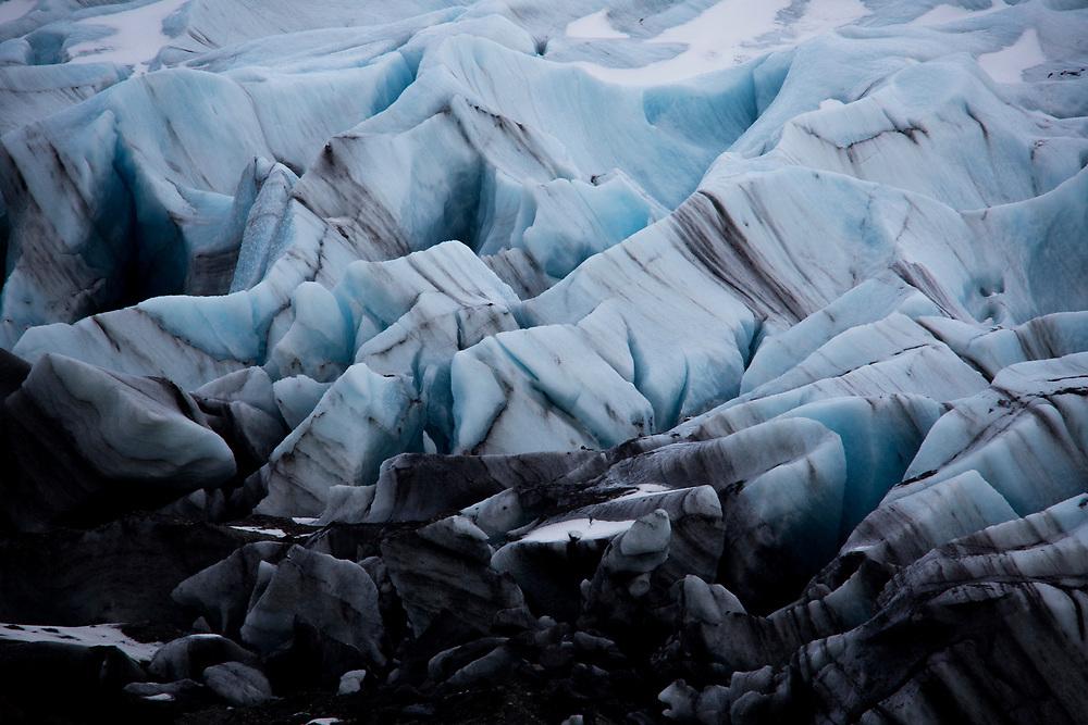 Svinafellsjökull Glacier, Iceland on March 13, 2014.<br /> <br /> copyright: Christina Czybik